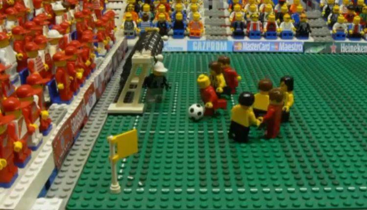 Champions League final Lego stop motion