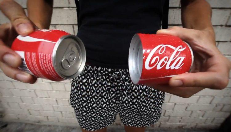 Coca Cola Split Can