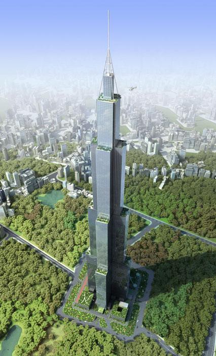 El edficio más alto del mundo Sky City China