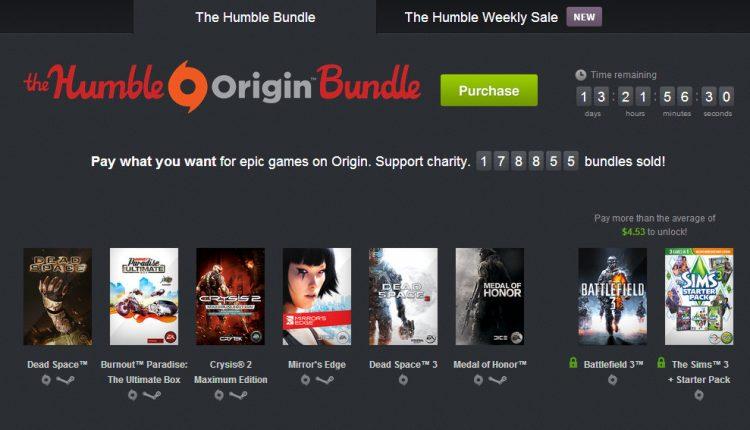 Humble bundle EA crysis