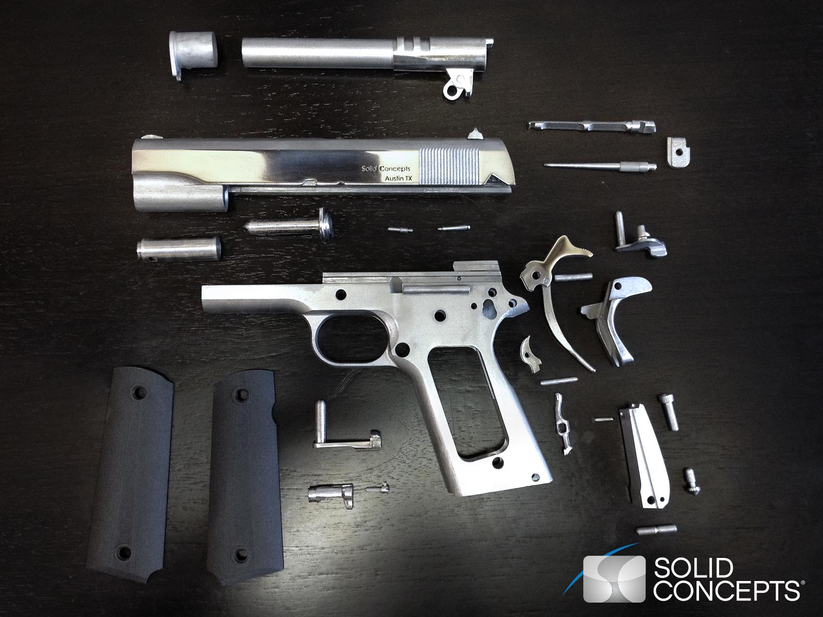 3D Pistola de Metal Componentes