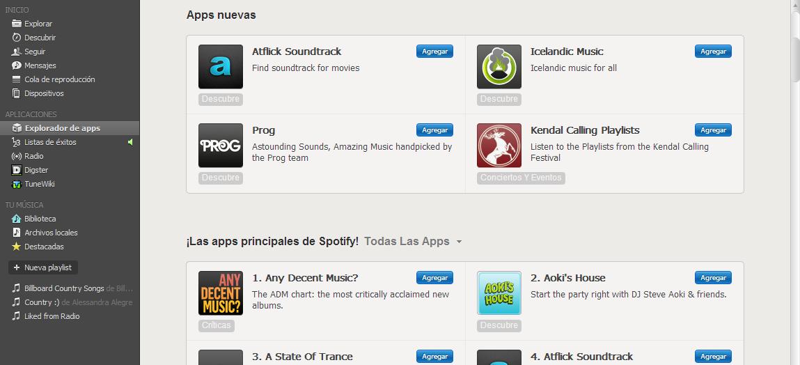 Apps Nuevas y Principales