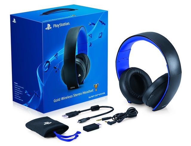 PS4 Headset Pulse gold audífonos