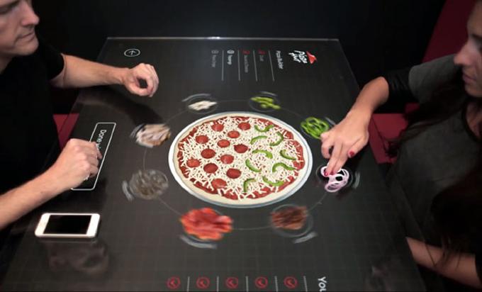 Pizza-Hut-Interactive-Table