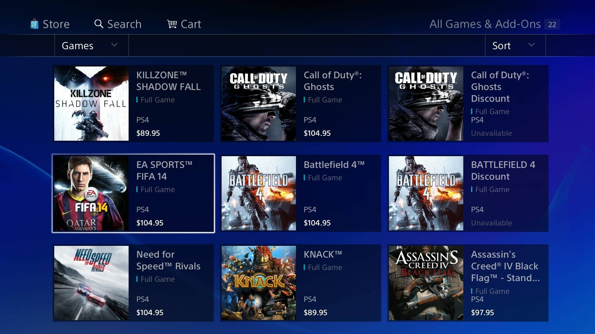PlayStation Store Prices