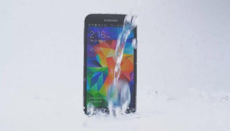 Galaxy S5 Samsung Ice Bucket Challenge hielo