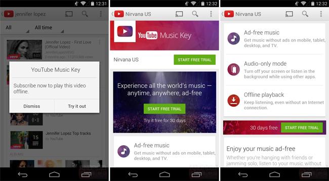 YouTube Music Key 3
