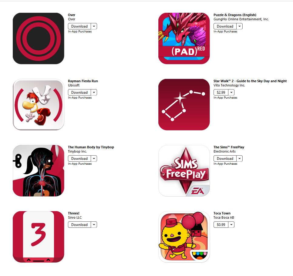 Apps for red (5)