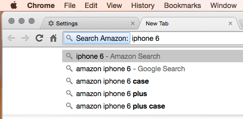 Chrome Amazon Search