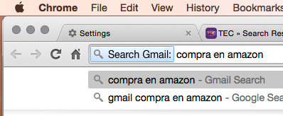 Chrome Gmail Search