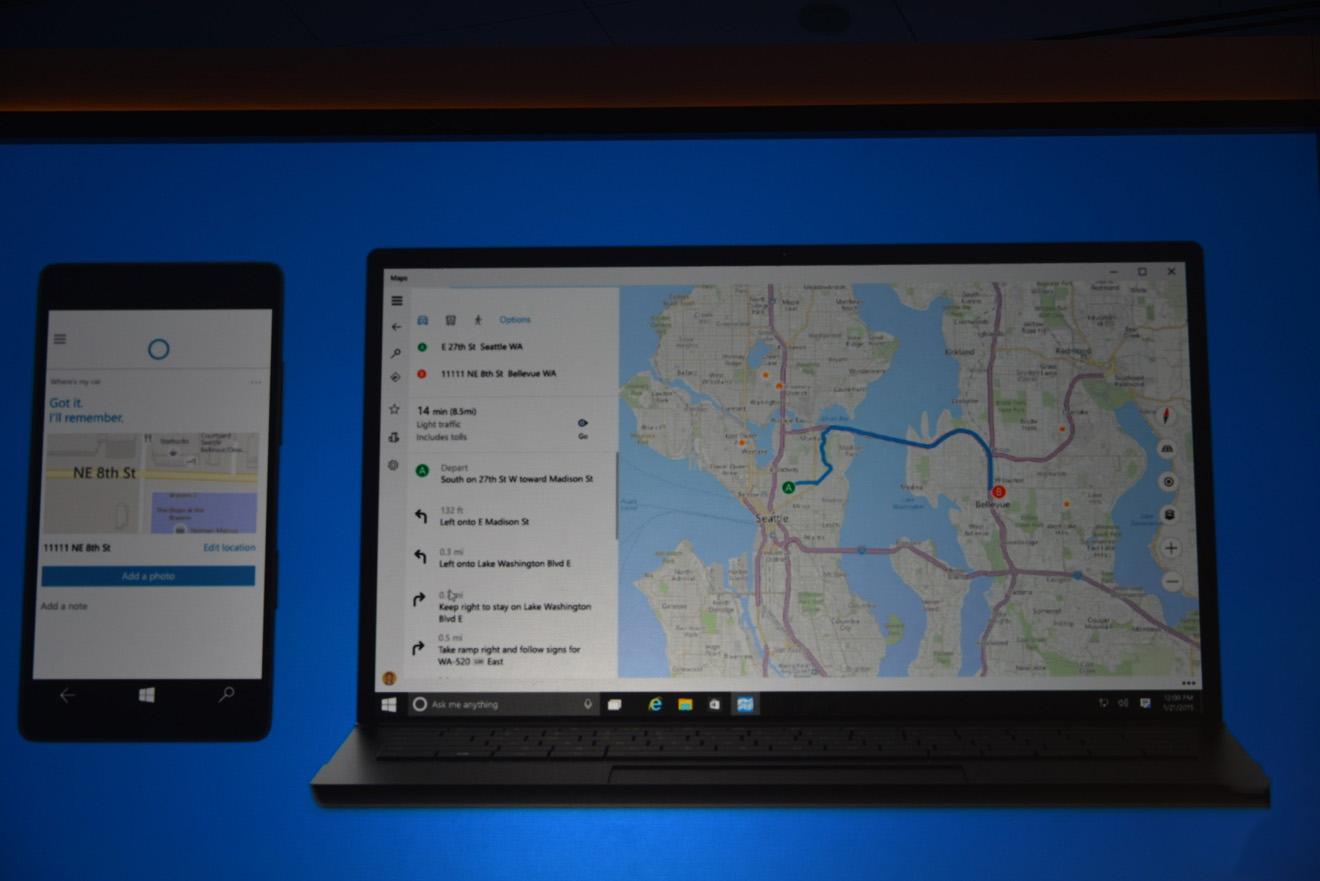 Cortana Maps