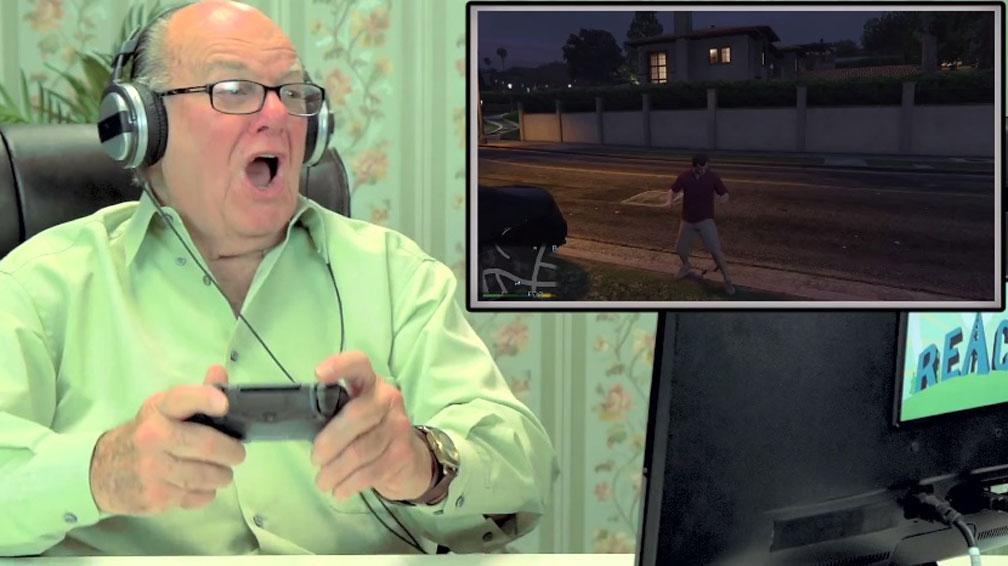 Old People React GTA V 003