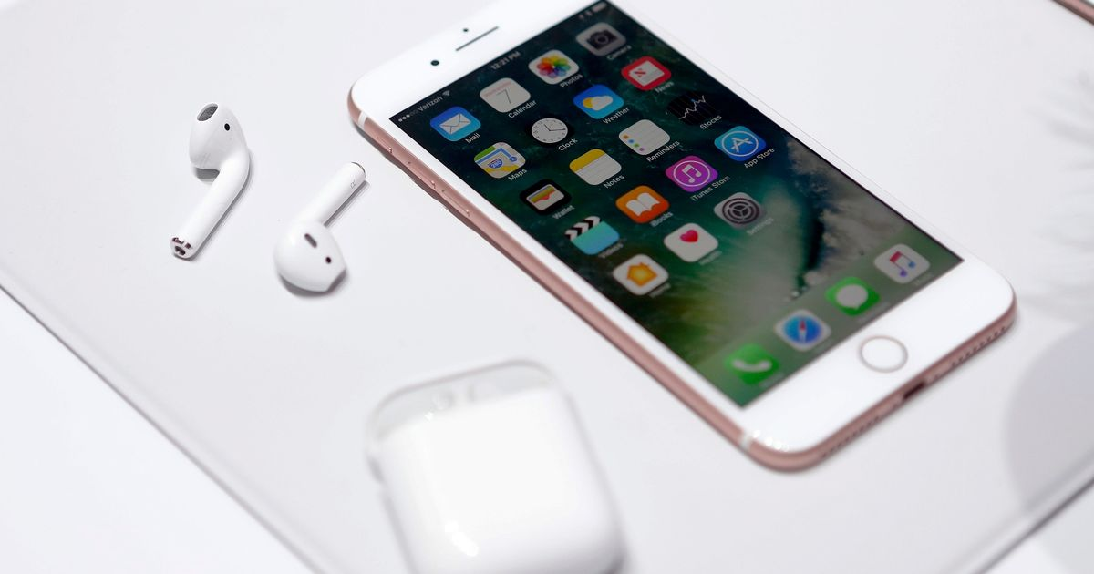 the-apple-iphone7-and-airpods-are-displayed-during-an-apple-media-event-in-san-francisco