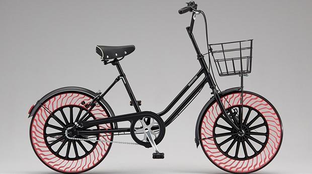 bicicleta ruedas sin aire