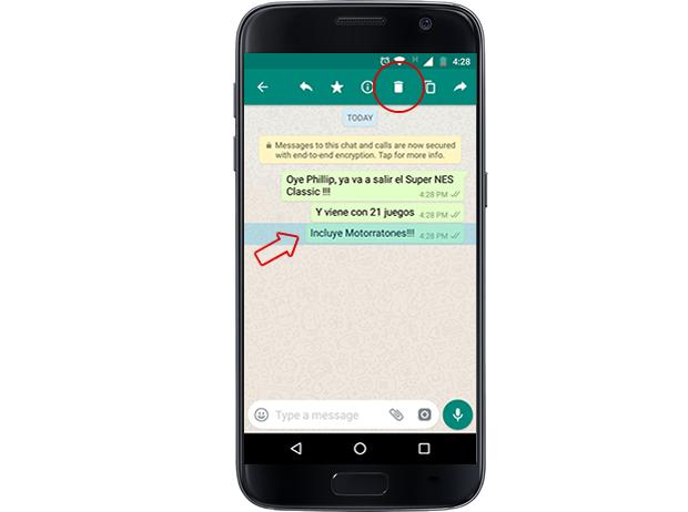 whatsapp borrar imagen instrucciones