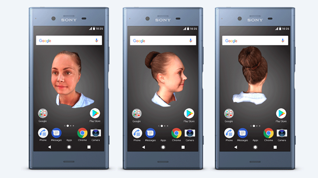 xperia xz1 3d scanner