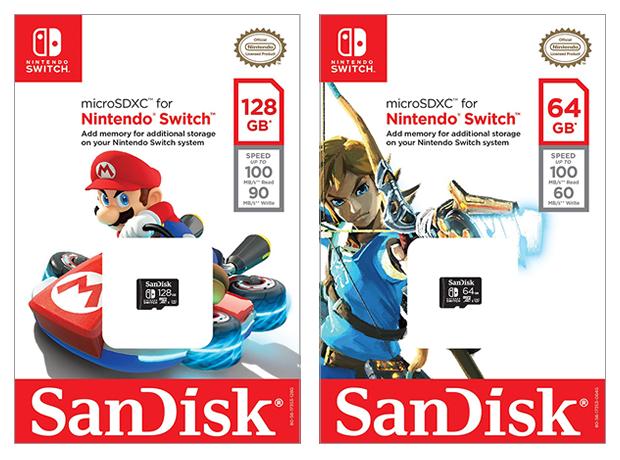 nintendo sandisk sd cards empaques