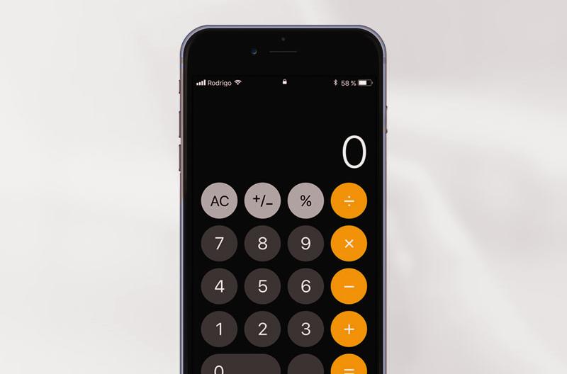 caulculadora iphone