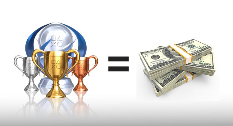 trofeos playstation dinero