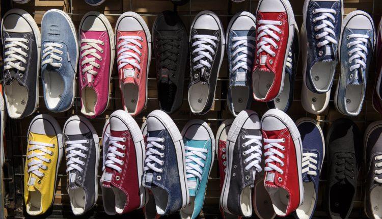 Canvas Shoe at market of Santiago, Chile