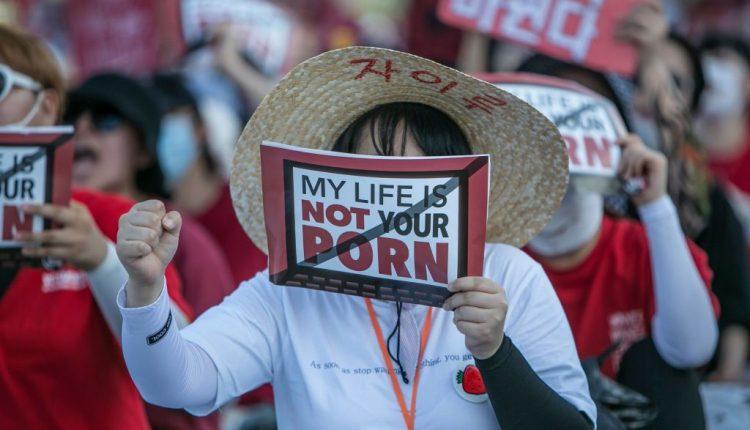 South Korean Women Rally Against Hidden Cameras