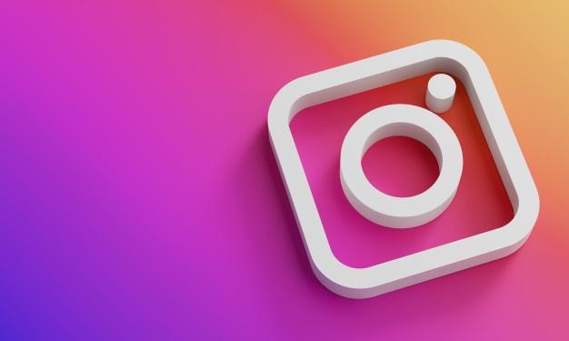 logotipo-instagram-minimalista-plantilla-diseno-simple-copy-space-3d_1379-4887