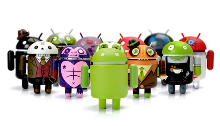 Google Android phone characters group